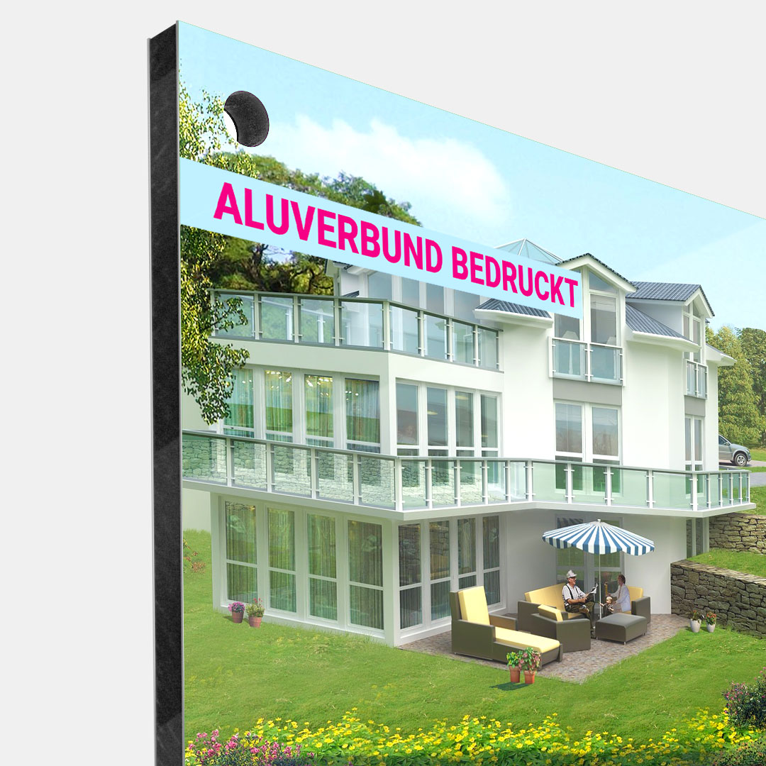 Aluminium-Verbundplatte - Einseitig Bedruckt