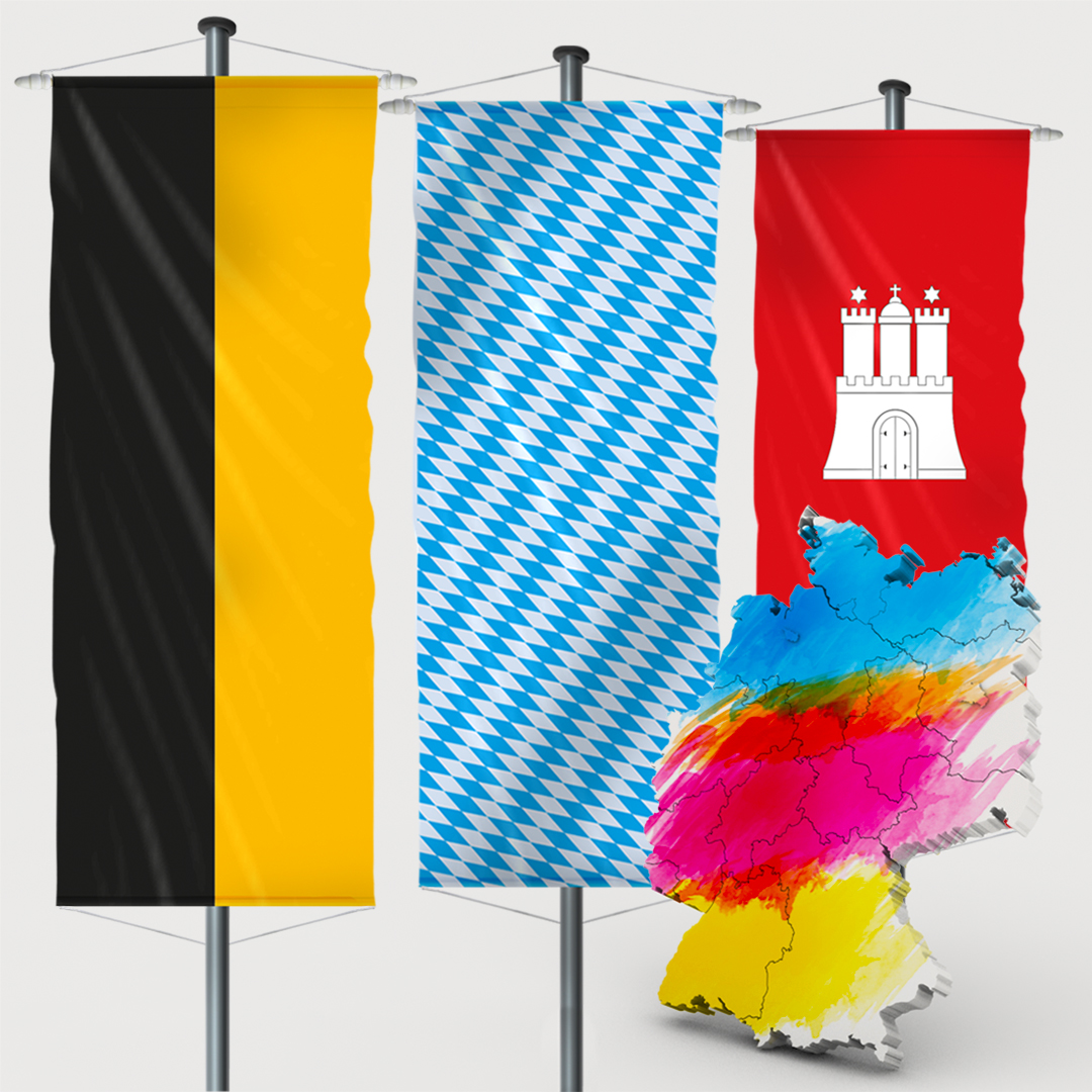 Bundeslandfahne - Bannerfahne